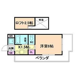 エステムコート大阪・中之島南[8階]の間取り