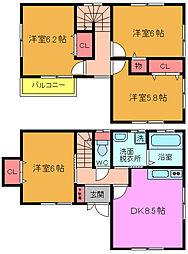 [一戸建] 千葉県市川市曽谷6丁目 の賃貸【/】の間取り