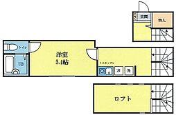 JR京浜東北・根岸線 蒲田駅 徒歩9分の賃貸アパート 2階1Kの間取り