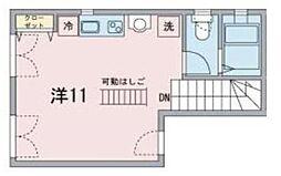 メゾンアルタイル 3階ワンルームの間取り