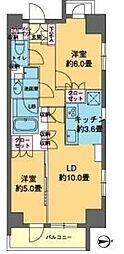東京都中央区日本橋横山町の賃貸マンションの間取り