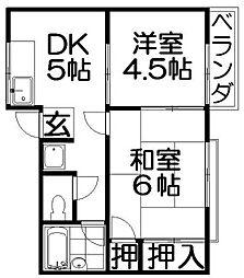 ジョリーハウス[2階]の間取り
