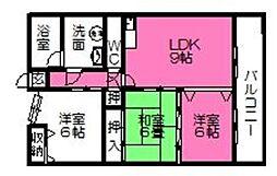 No.8山一ビル[603号室]の間取り