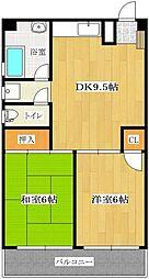 東野興産第1ビル[101号室]の間取り