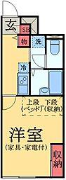 京成本線 京成臼井駅 徒歩8分の賃貸アパート 1階1Kの間取り