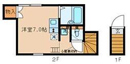 アペックス下高井戸II 2階ワンルームの間取り