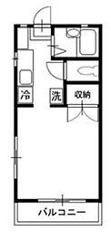 JR中央線 西国分寺駅 徒歩5分の賃貸アパート 1階ワンルームの間取り