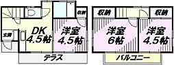 [一戸建] 埼玉県所沢市小手指南2丁目 の賃貸【/】の間取り