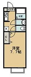 東急田園都市線 青葉台駅 徒歩24分の賃貸アパート 1階1Kの間取り