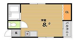 影浦マンション[3階]の間取り