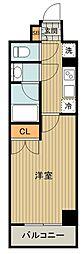 都営三田線 高島平駅 徒歩10分の賃貸マンション 8階1Kの間取り