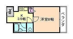 コンフォート姫里[2階]の間取り
