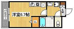 福岡県糸島市泊の賃貸マンションの間取り