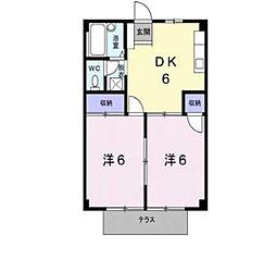 シティハイツ福井[1階]の間取り