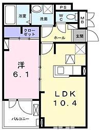 JR東海道本線 茅ヶ崎駅 バス14分 柳島下車 徒歩2分の賃貸アパート 3階1LDKの間取り