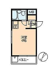 東京都世田谷区尾山台3丁目の賃貸マンションの間取り