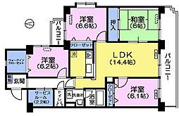 エディフィシオ赤塚[3階]の間取り