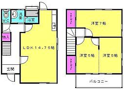 [一戸建] 兵庫県高砂市神爪4丁目 の賃貸【/】の間取り