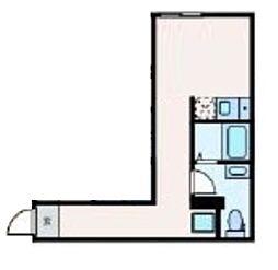 JR中央線 高円寺駅 徒歩7分の賃貸マンション 3階ワンルームの間取り