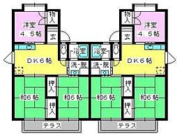 池田コーポ A棟[201号室]の間取り