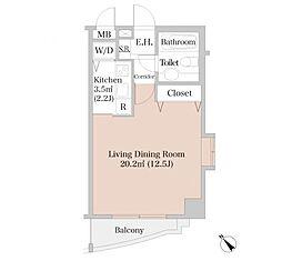 広尾ハイツ[2階]の間取り