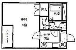 ロイヤルパレス西田[105号室]の間取り
