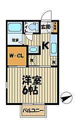 インプレス鎌倉II[201号室]の間取り