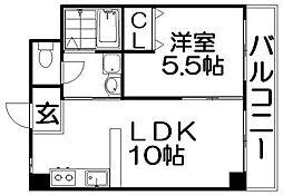 ファミーユ長谷川[2階]の間取り