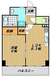 カサベラセントラルプラザ長田[5階]の間取り