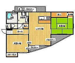 トライコード香椎駅東[302号室]の間取り