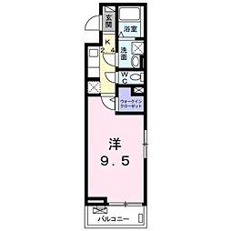 東武東上線 東松山駅 徒歩9分の賃貸アパート 1階1Kの間取り