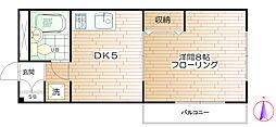 パーシモンハイツ千倉[3階]の間取り