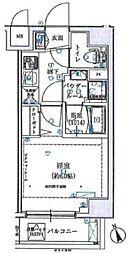 SHOKEN Residence横浜伊勢町 4階1Kの間取り