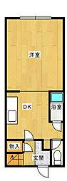 [タウンハウス] 福岡県福岡市中央区白金1丁目 の賃貸【/】の間取り