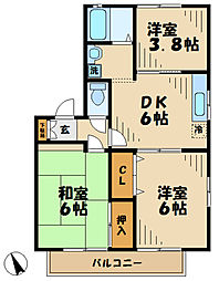 神奈川県川崎市麻生区栗木台5丁目の賃貸アパートの間取り
