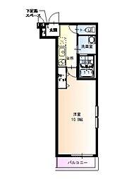 フジパレス城東中央 1階1Kの間取り