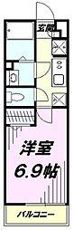 JR中央線 立川駅 徒歩20分の賃貸アパート 2階1Kの間取り