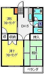 神奈川県横浜市旭区今宿東町の賃貸アパートの間取り