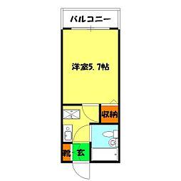 Mステージ横浜[303号室]の間取り