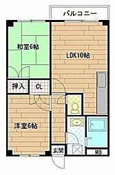 サンワコービル[2階]の間取り