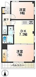 セゾン和泉[1階]の間取り
