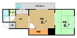 岡野マンション[2階]の間取り