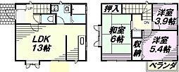 [一戸建] 東京都八王子市西寺方町 の賃貸【/】の間取り