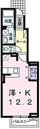 東京都青梅市野上町4丁目の賃貸アパートの間取り