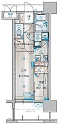 アクタス箱崎ステーションコート[1203号室]の間取り