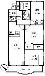 ライトマークスI[2階]の間取り