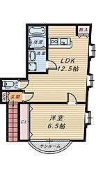 シャトー富士[2階]の間取り