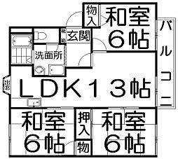 エクセル平井1[2階]の間取り