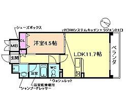 大阪府豊中市庄本町4丁目の賃貸マンションの間取り