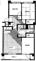 富岡シーサイドコーポF[1階]の間取り